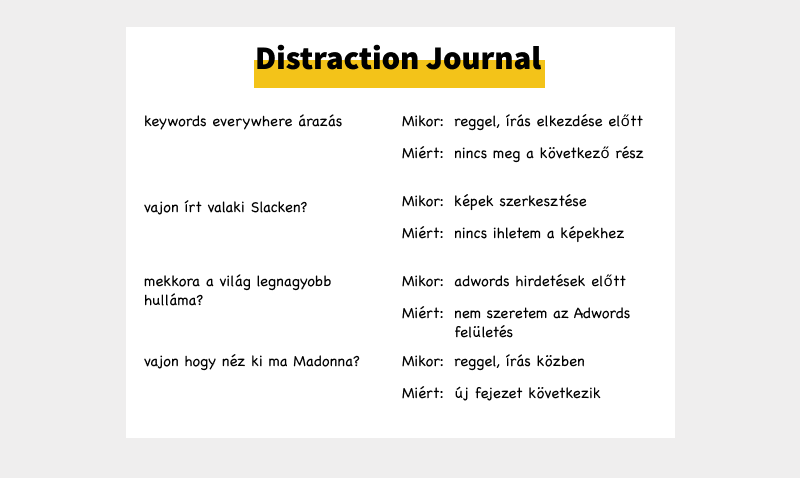 Distraction Journal