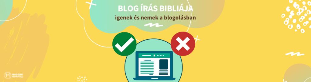 blog írás bibliája
