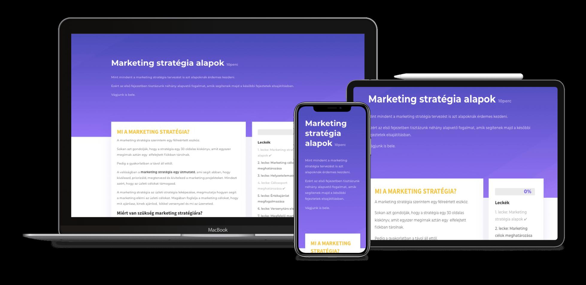 mobilra optimalizált marketing stratégia képzés