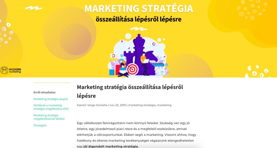 marketing stratégia cornerstone tartalom