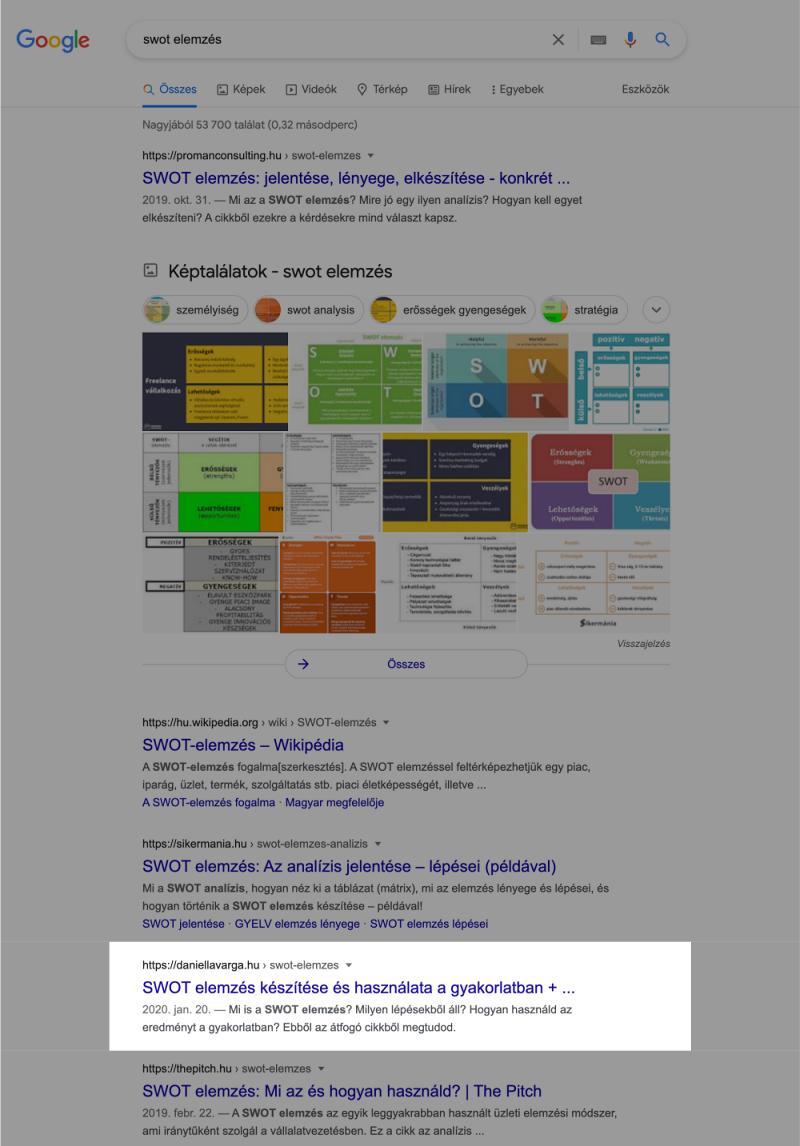 swot-elemzés-Google-keresés-eredmény