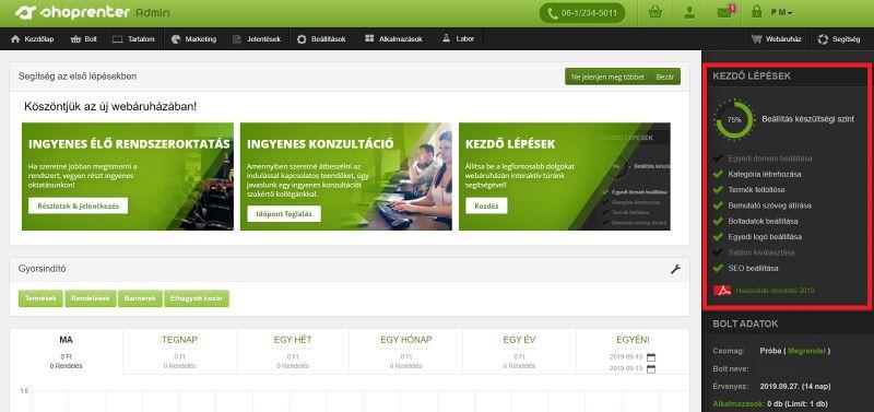 shoprenter bérelhető webshop