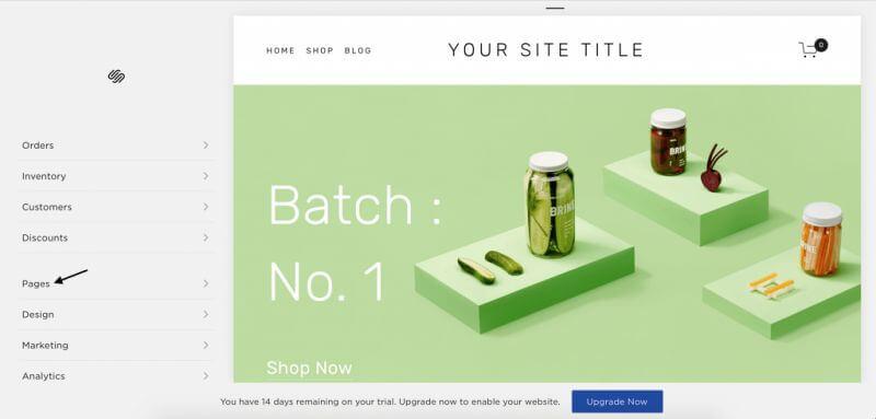 squarespace weboldal építő