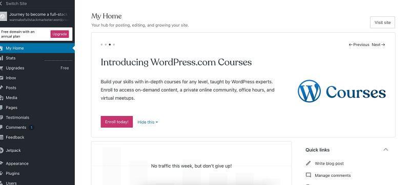 wordpress.com tartalomkezelő rendszer